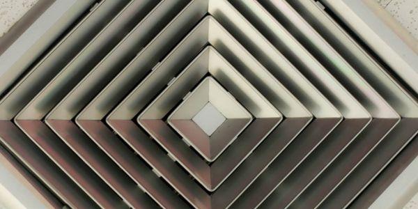 srebrny kwadratowy anemostat