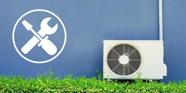 klimatyzator zamontowany na ścianie